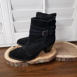 Skechers Black Heeled Ankle Boots Size 8